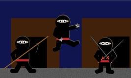 Ninjas sveglio illustrazione vettoriale