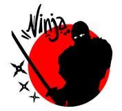 Ninjasymbool Royalty-vrije Stock Foto