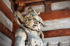 Ninna籍寺庙的木监护人在京都 库存照片