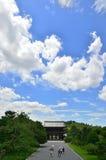 Ninnaji temple sky background, Kyoto summer. Royalty Free Stock Photos