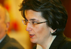 Nino Burjanadze. Leader Democratic Movement-United Georgia Royalty Free Stock Photos
