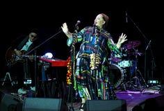 Nino Katamadze -从乔治亚的著名爵士乐歌手执行2016年10月3日在Bialystok,波兰 免版税库存照片