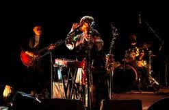 Nino Katamadze -从乔治亚的著名爵士乐歌手执行2016年10月3日在Bialystok,波兰 图库摄影