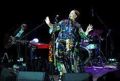 Nino Katamadze - famous jazz singer from Georgia performs on October 3, 2016 in Bialystok, Poland Royalty Free Stock Photo