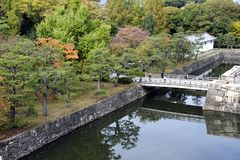 Ninomaru庭院在京都 图库摄影