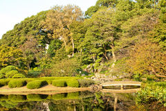 Ninomaru Garden Bridge Tokyo Imperial Plalace Stock Photo