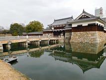 Ninomaru Omote port på den Hiroshima slotten, Hiroshima, Japan Royaltyfri Foto