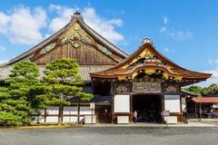 Ninomaru slott på den Nijo slotten i Kyoto Arkivfoton