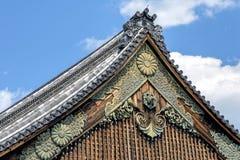 Ninomaru slotttak på den Kyoto Nijo slotten Royaltyfria Bilder