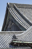 Ninomaru slotttak på den Kyoto Nijo slotten i Kyoto, Japan Arkivfoto