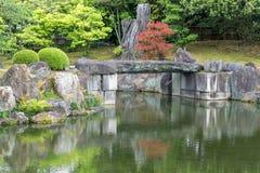 Ninomaru trädgård Arkivfoto