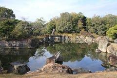 Ninomaru trädgård av den Nijo slotten Royaltyfri Fotografi