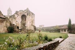 Ninotsminda Village, Kakheti Region, Georgia. Ruins Of Old Church Monastery Of Saint Nino, Ninotsminda Near Sagarejo. Monastery Was One Of Most Important stock photos