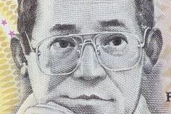 Ninoy Aquino of 500 Philippine peso stock photos