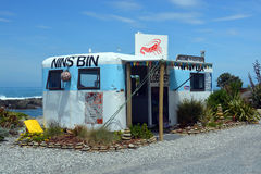 Nins Bin Crayfish & Lobster Shop, Kaikoura Royalty Free Stock Images