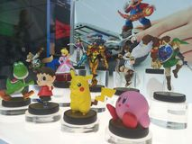 Nintendo Amiibo figurines. Exposed royalty free stock photos
