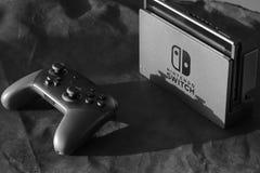 Nintendo commuta la console Fotografia Stock Libera da Diritti