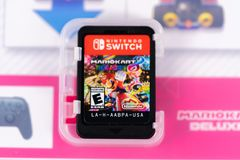 Nintendo commuta Mario Kart Deluxe 8 fotografie stock libere da diritti