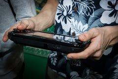 Nintendo console at Cartoomics 2014 Royalty Free Stock Image