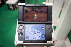 Nintendo consolent chez Cartoomics 2014 Image stock