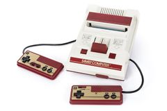 Nintendo Famicom hazardu konsola obraz stock