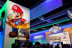 Nintendo's booth at E3 2014 Royalty Free Stock Photography