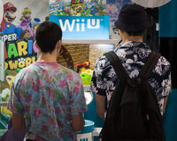 Nintendo stand at Cartoomics 2014 in Milan, Italy Royalty Free Stock Photography