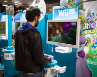 Nintendo stand at Cartoomics 2014 Royalty Free Stock Photography