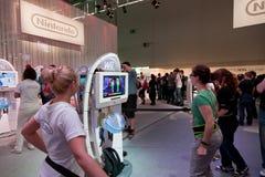 Nintendo Stand und Wii Stockbilder