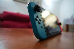Nintendo strömbrytare arkivfoto