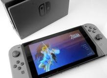 Nintendo strömbrytarekonsol Royaltyfri Foto