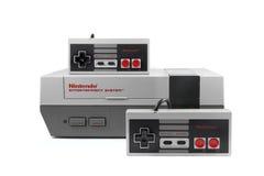 Nintendo-Unterhaltungsanlage Stockbild