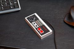 Nintengones controlemechanisme Royalty-vrije Stock Foto's