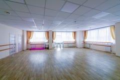 Interior training gymnastic dance hall with mirrors