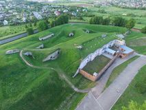 Ninth fort aerial view in Kaunas, Lithuania. Aerial view of ninth fort park in Kaunas, Lithuania royalty free stock images