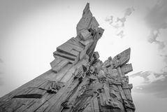 Ninth Forth, Kaunas, Lithuania, BN. Ninth Forth, Kaunas, Memorial Monument  was designed by sculptor A. Ambraziunas Royalty Free Stock Photography