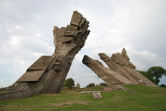 Ninth Forth, Kaunas, Lithuania, BN. Memorial was designed by sculptor A. Ambraziunas and was  erected in 1984 Royalty Free Stock Photo