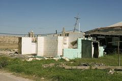 Ninth Ward damaged home. A flood damaged home in the Ninth Ward of New Orleans Royalty Free Stock Photo
