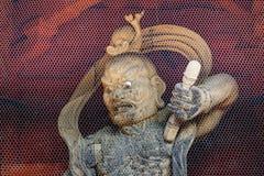 Nio (доброжелательные короля) на стробе демона в Koyasan (Mt Зона Koya) в Wakayama Стоковая Фотография RF