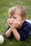 Niño aburrido Imagen de archivo libre de regalías