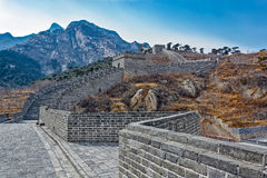 Nio-båge bro på den stora Kina väggen Royaltyfri Foto