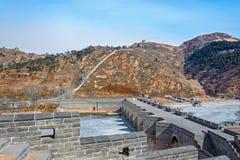 Nio-båge bro på den stora Kina väggen Arkivbilder