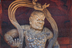 Nio (Benevolent Kings) at Daimon Gate in Koyasan (Mt. Koya) area in Wakayama. Japan Royalty Free Stock Photography