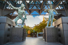 Nio Benevolent Kings in front of Isshinhji Temple, in Osaka Royalty Free Stock Photography