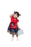 Niño coreano asiático lindo en traje Foto de archivo libre de regalías