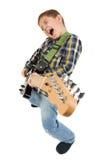 Niño de la estrella del rock Fotografía de archivo