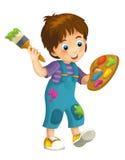 Niño de la historieta - ejemplo para los niños Imagen de archivo