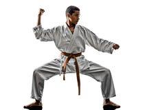 Niño de los adolescentes del karate Imágenes de archivo libres de regalías