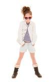 Niño de moda de la muchacha Fotografía de archivo libre de regalías