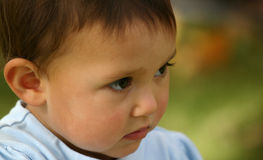 Niño del bebé melancólico Fotos de archivo libres de regalías